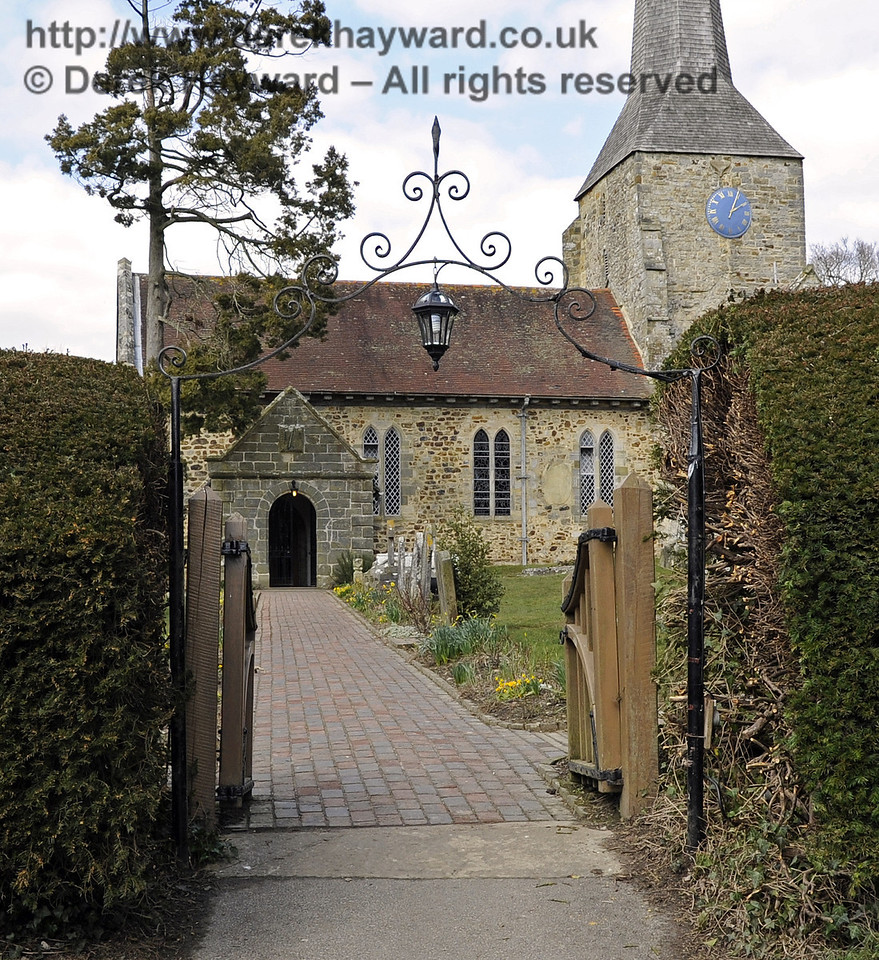 St Giles Church, Horsted Keynes looking north through the gate.  06.04.2013  6578