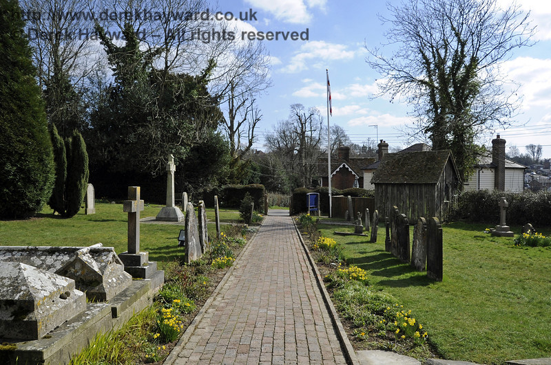 Looking south from the porch of St Giles Church, Horsted Keynes.  06.04.2013  6696