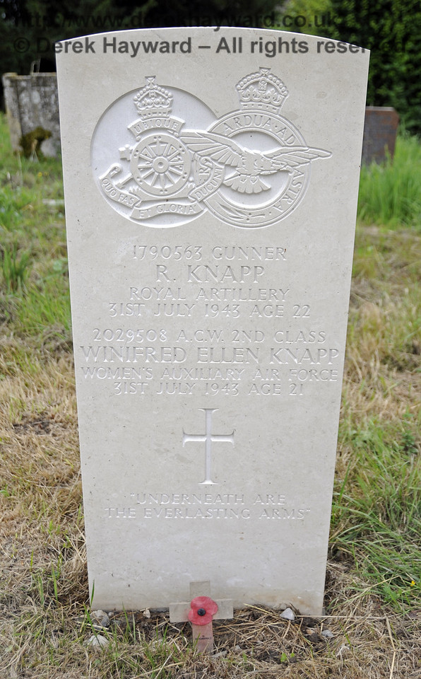 In July 2013 the Knapp gravestone was refurbished by the Commonwealth War Graves Commission.  <br /> <br /> St Giles Church, Horsted Keynes 31.07.2013  9594