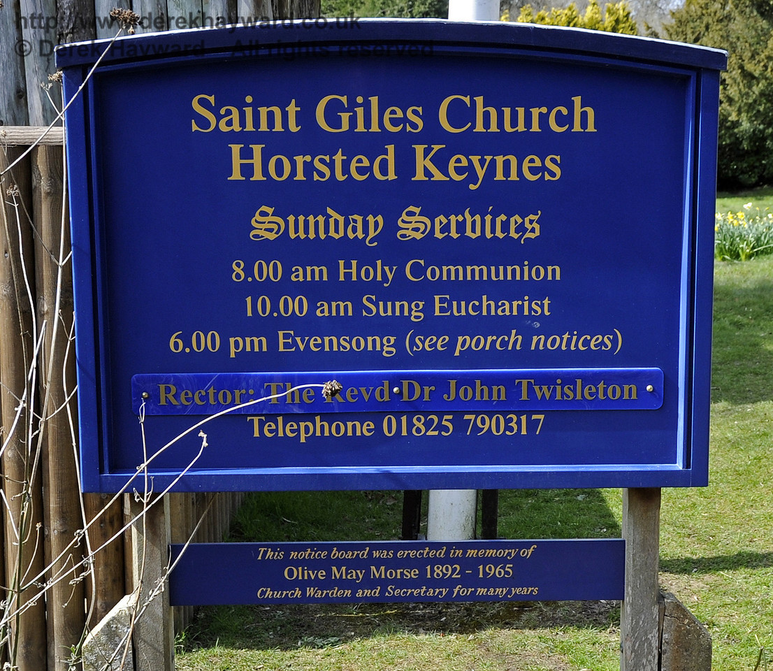 St Giles Church, Horsted Keynes.  The Rector is also Chaplain to the nearby Bluebell Railway.  06.04.2013  6581