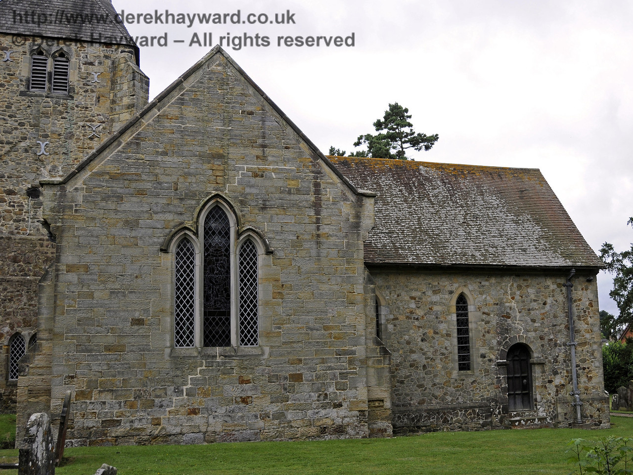 Looking south towards the northern side of St Giles Church, Horsted Keynes. 31.07.2013  9604