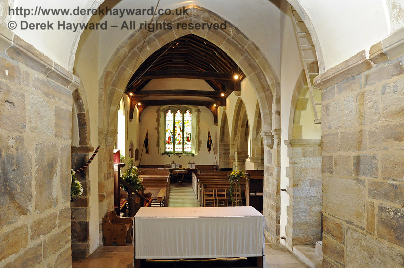Looking west from the high altar towards the main body of the church.  <br /> <br /> St Giles Church, Horsted Keynes  06.04.2013  6651