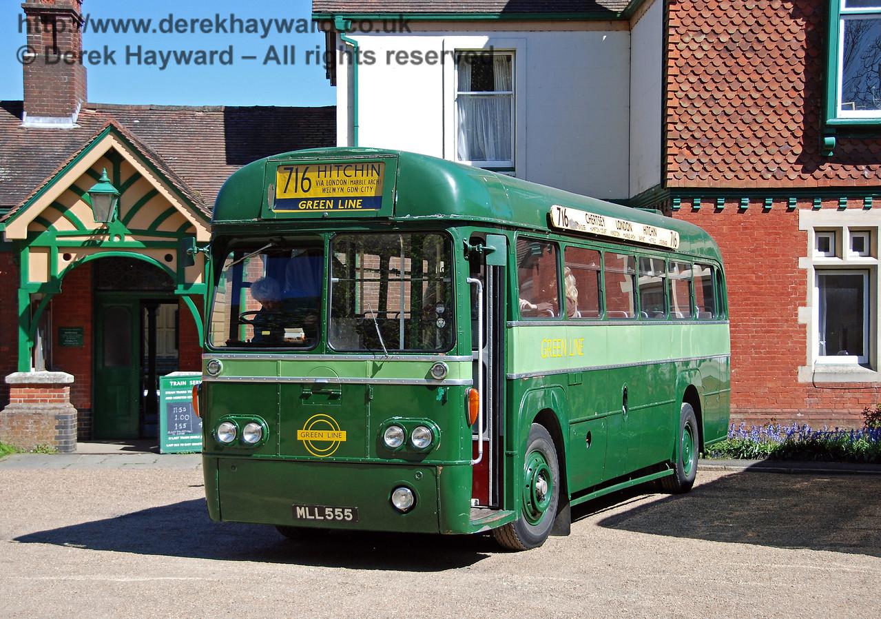MLL555, Bus Running Day, Kingscote, 26.04.2009
