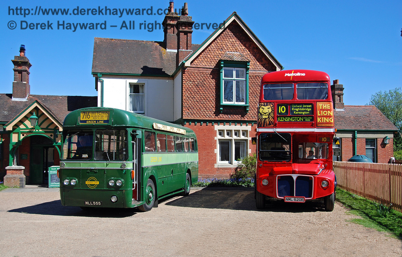 MLL555 and RML2620, Bus Running Day, Kingscote, 26.04.2009