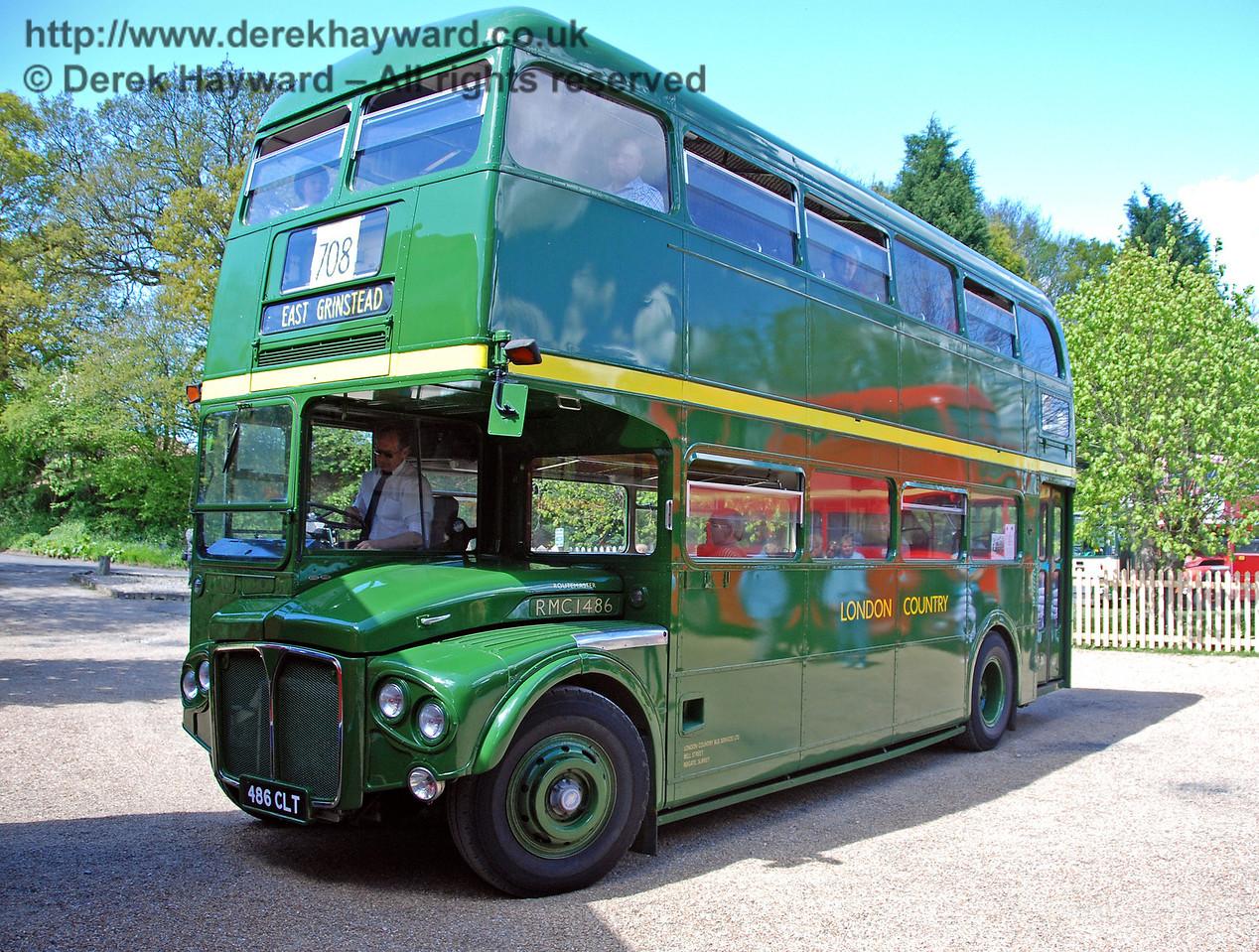 RMC1486, Bus Running Day, Kingscote, 26.04.2009