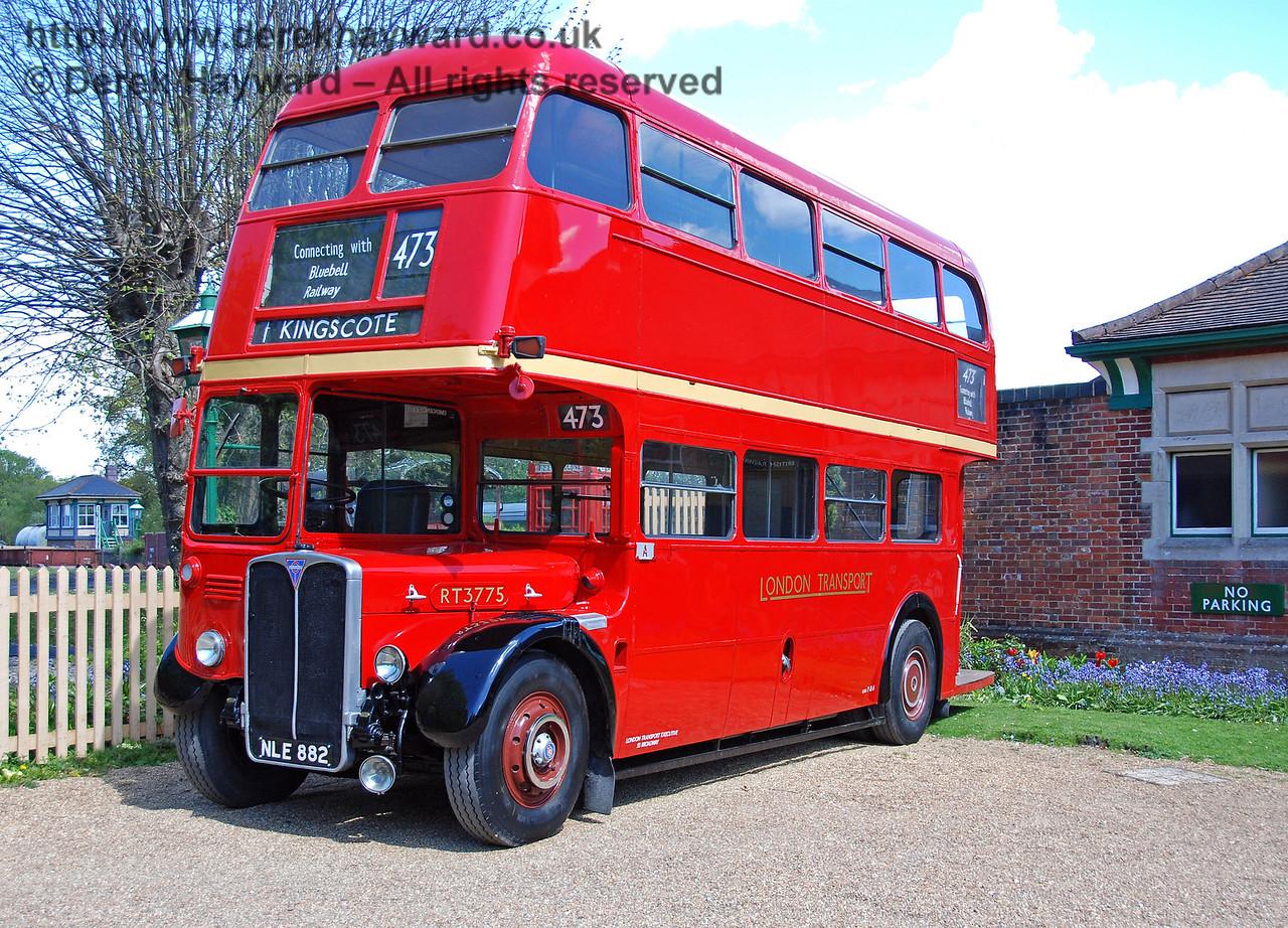RT3775, Bus Running Day, Kingscote, 26.04.2009