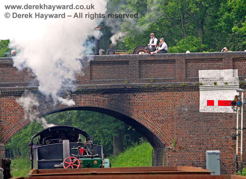 Watched by the crew of a traction engine, 30541 passes under Leamland Bridge with a goods train. 16.06.2019 17123
