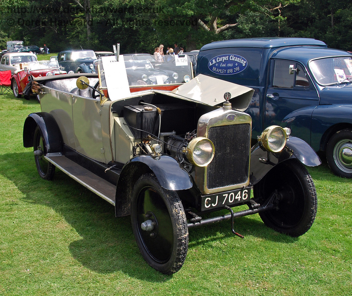 CJ7046, the oldest classic car on display at Horsted Keynes. 16.08.2008