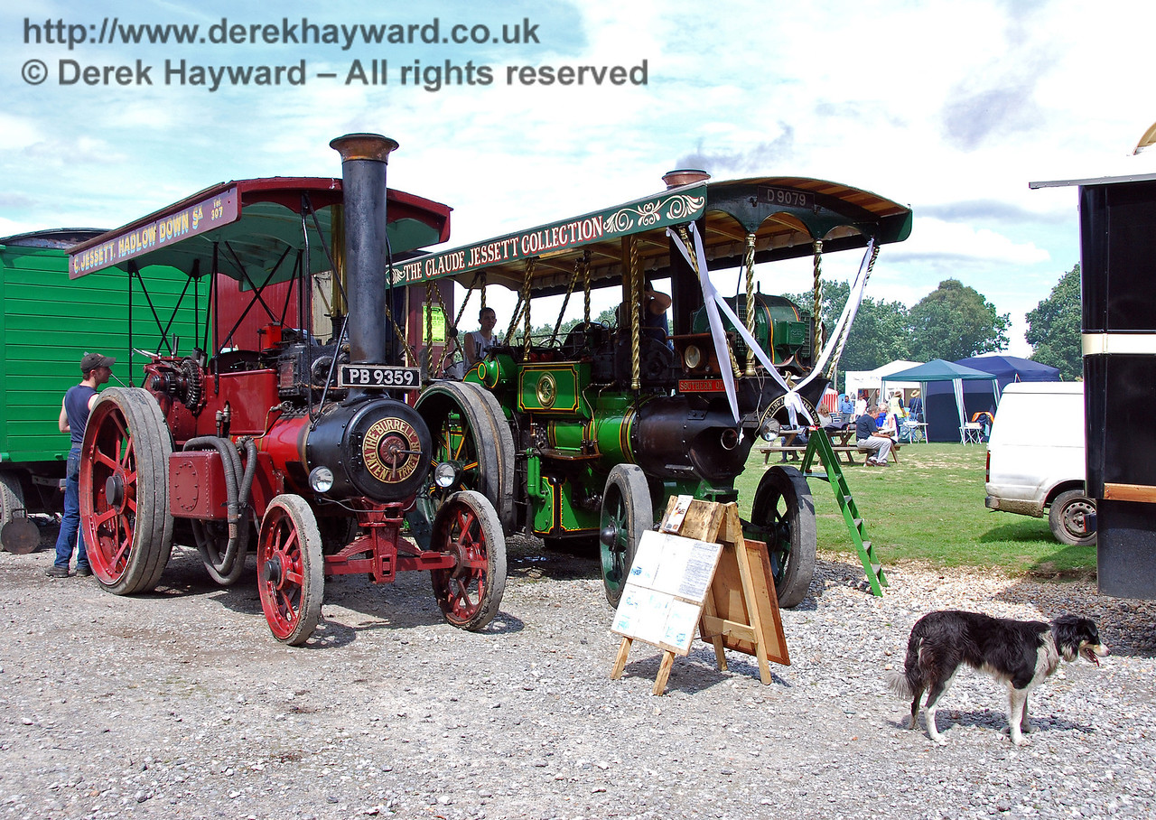 Traction engines at Horsted Keynes. 16.08.2008
