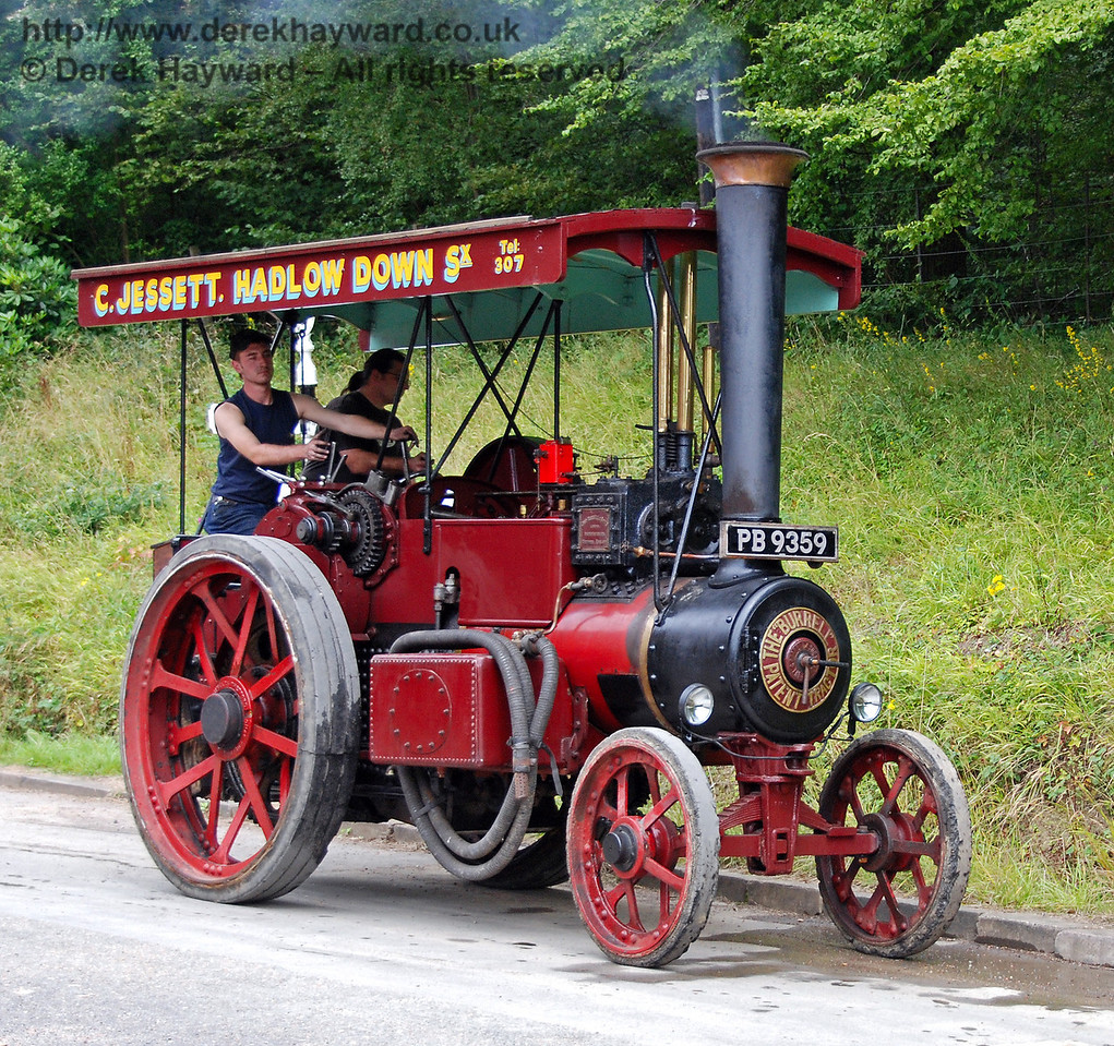 Traction engine PB9359 at Horsted Keynes. 16.08.2008