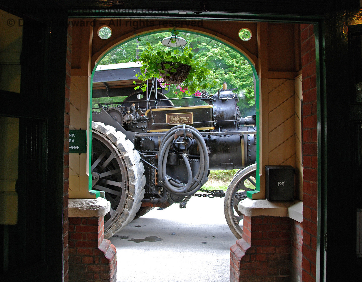 An unusual view from the Booking Office at Horsted Keynes Station. 16.08.2008