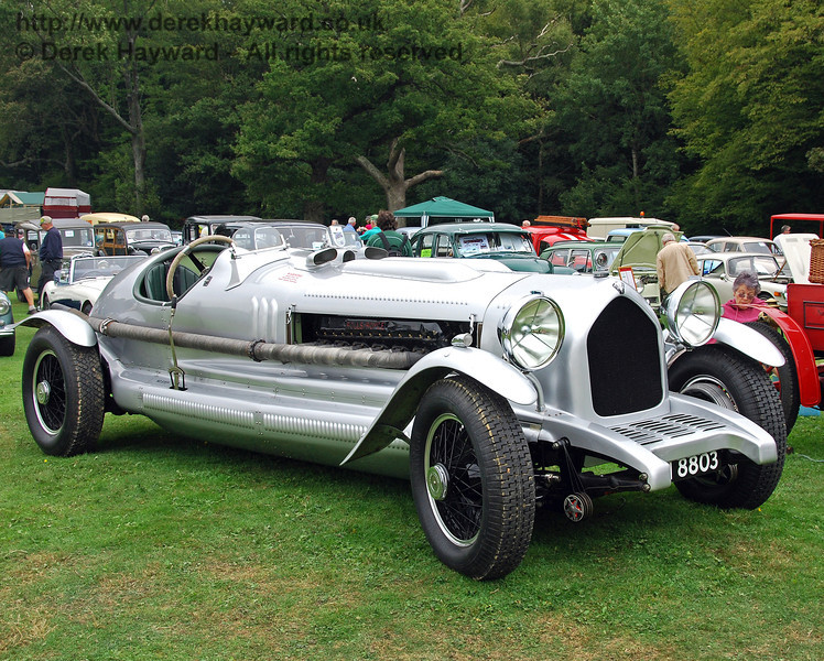 The Rolls Royce Handlye Special, which is based on a Rolls Royce Phantom II chassis. It is powered by a massive Rolls Royce Merlin Aero engine, something in the order of 26 litres. It was started up several times and appeared to have sufficient power to haul a service train!!  However management abandoned the idea on being informed that it did about 3mpg!!! Horsted Keynes 15.08.2009