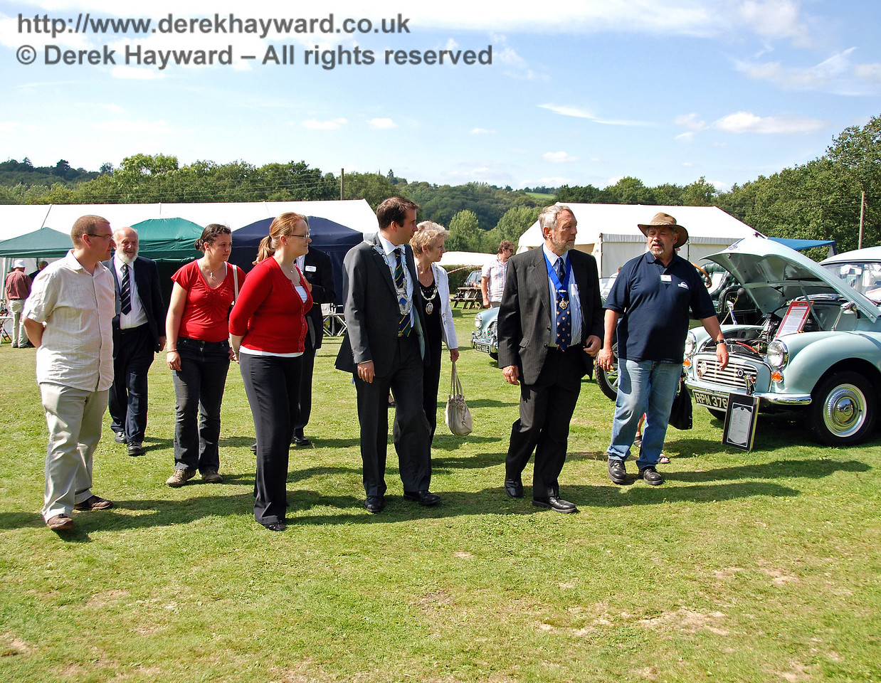 Having looked at Stationary Engines, Traction Engines, and Motor Cycles, Steve Everest breaks the news that there are 200 vehicles and some farm machinery to judge..... Horsted Keynes 16.08.2009