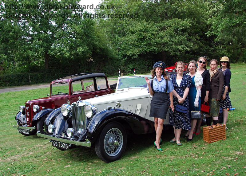 Some of our guests attended in period costume. Horsted Keynes 15.08.2009