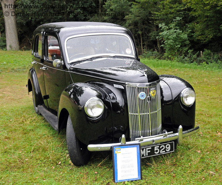 The second winner in the Vintage and Classic Car section was Ford Prefect YMF529 entered by Mike and Katie Jillians. This vehicle was awarded the Haywards Cup, the judges noting that it was in regular use. Horsted Keynes 22.08.2010  4337