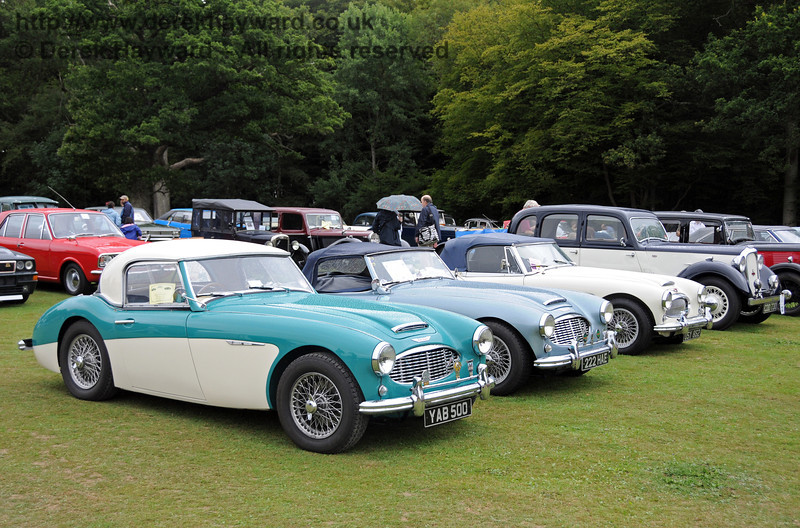 A display of cars at Horsted Keynes 22.08.2010  4303