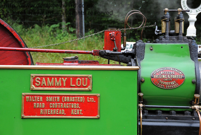 A closer view of the makers plates on Sammy Lou. In those days Brasted had a railway station on the Westerham Branch, but it is now under the M25. Times change... Horsted Keynes 21.08.2010  4236