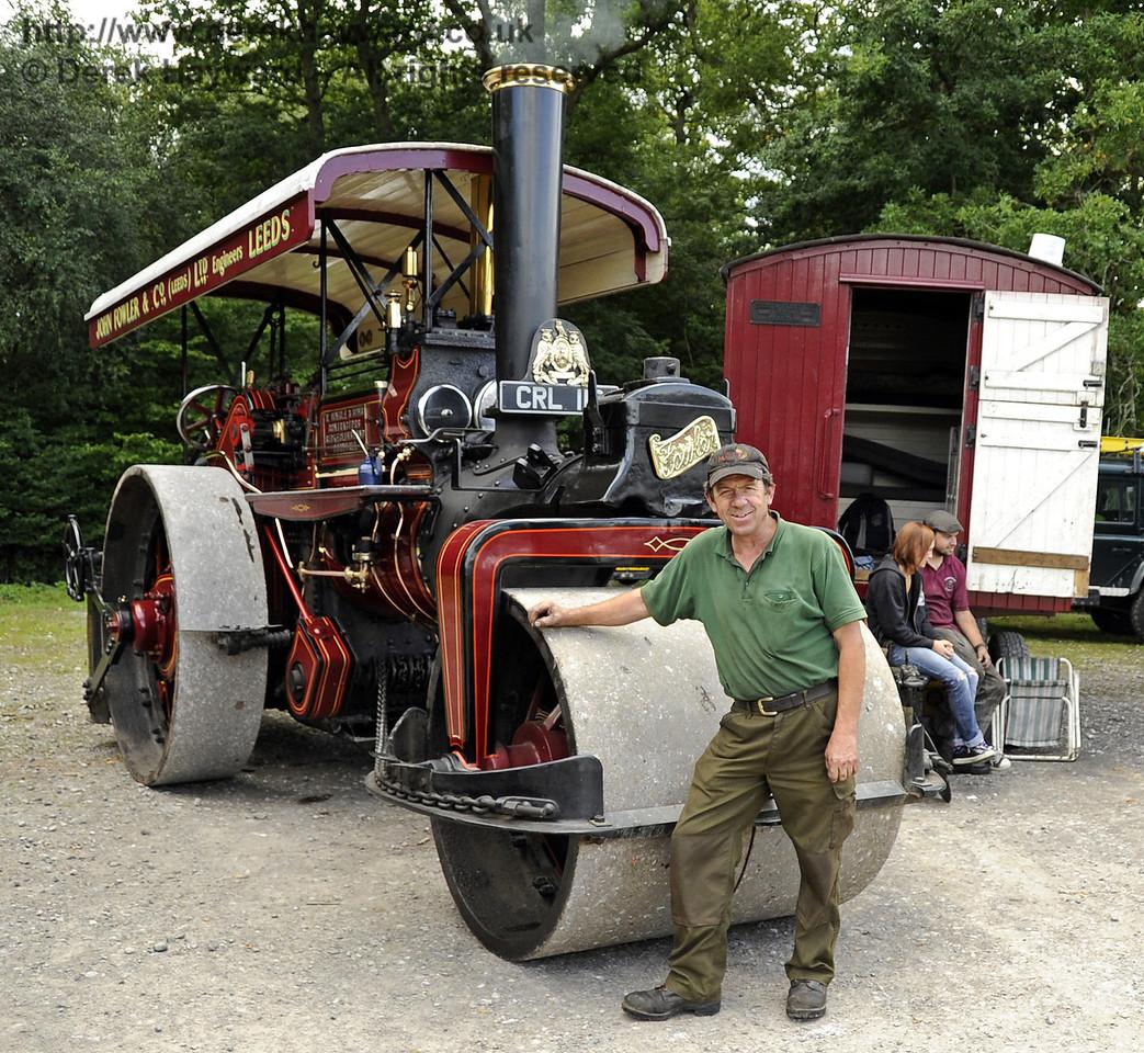 Winner Traction Engine Jonathan Varton 1936 John Fowler roller Lewes Cup 140811 2593 E