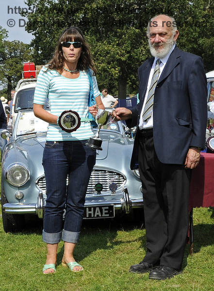 Karen Bush won the Southdown Cup (Best in Show) for her 1962 Vauxhall PA Cresta, 198SKL.  The judges particularly noted the outstanding condition of the vehicle given that cars from this era are often prone to rust.  Bluebell Railway Vintage Transport Weekend, Horsted Keynes, 12.08.2012  5598