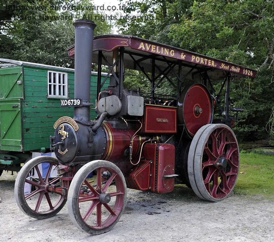 Traction engine KO6739.  Bluebell Railway Vintage Transport Weekend, Horsted Keynes, 12.08.2012  5498