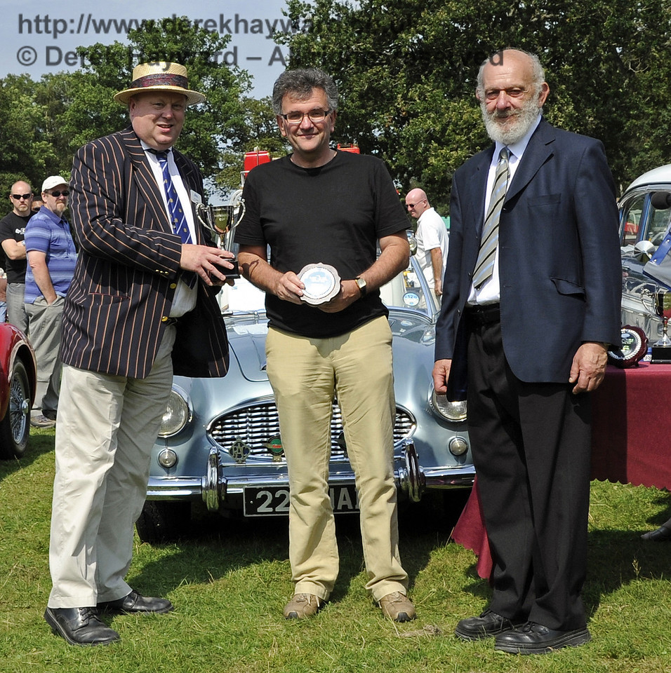 Peter Chowney won one of two Judges' Awards (Highly Commended) for his 1958 MG Magnette ZB, RUX936.  Bluebell Railway Vintage Transport Weekend, Horsted Keynes, 12.08.2012  5611
