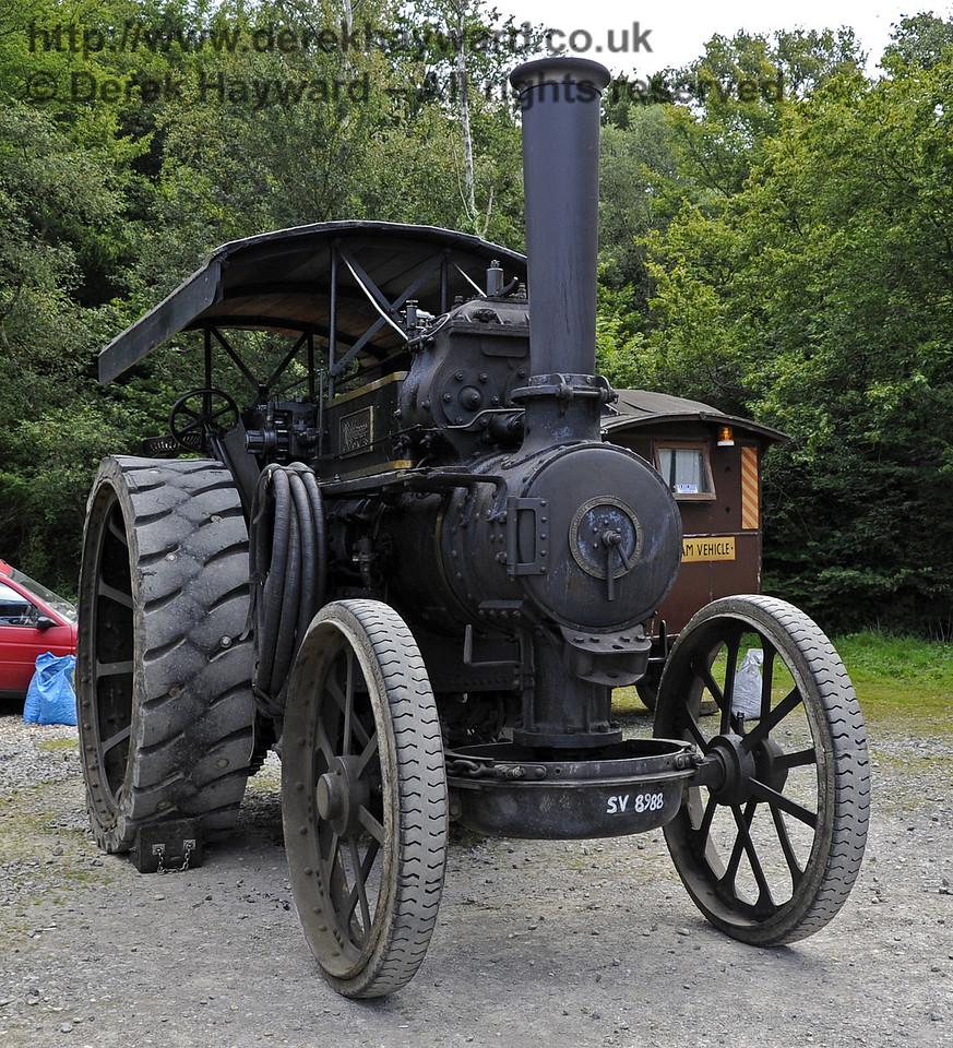 Traction engine SV8988.  Bluebell Railway Vintage Transport Weekend, Horsted Keynes, 12.08.2012  5499