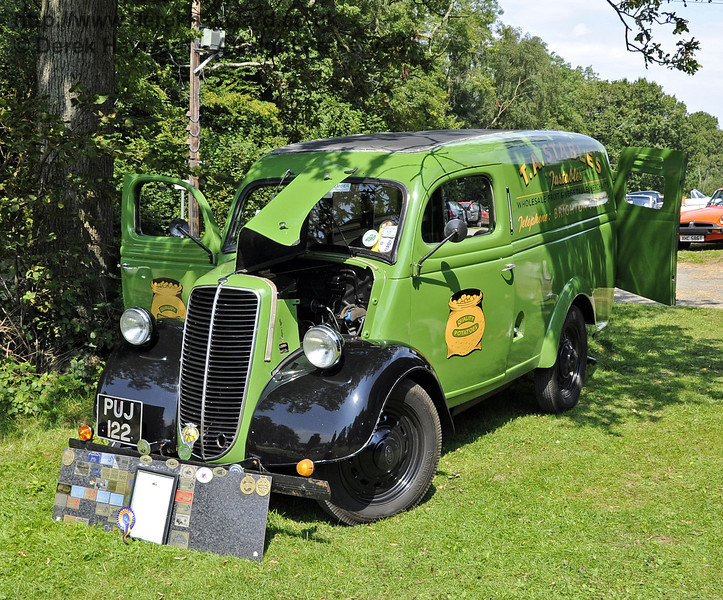 Timothy Stables received the Lewes Cup for best Commercial Vehicle, with his 1947 Fordson E83W, PUJ122.  The judges felt that Mr Stables had displayed his vehicle to a very high standard.  Bluebell Railway Vintage Transport Weekend, Horsted Keynes, 12.08.2012  5524