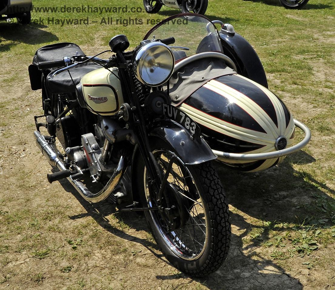 Motor cycle and sidecar FUV783.  Bluebell Railway Vintage Transport Weekend, Horsted Keynes, 12.08.2012  5551