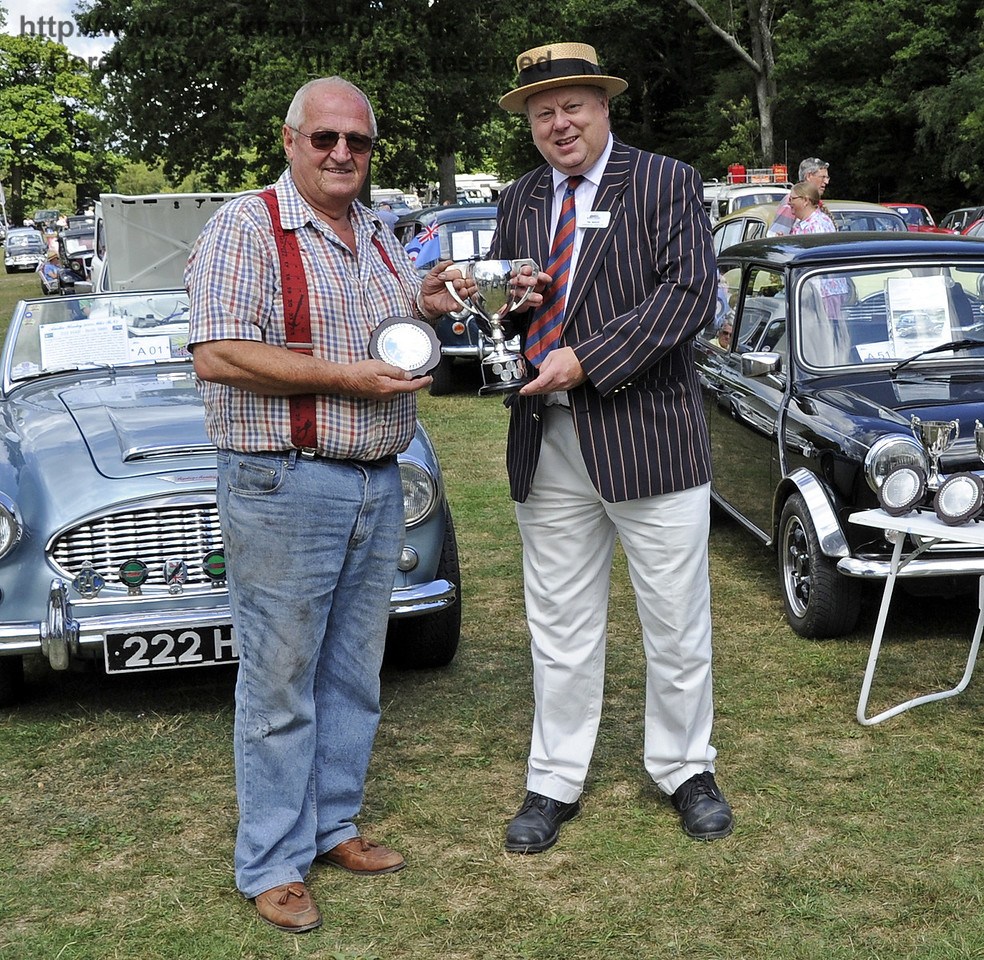 The Bluebell Cup for best stationary engine was awarded to Chris Page for his 1912 Fairbanks Morse Jack Junior.  Vintage Transport Weekend, Horsted Keynes, 11.08.2013  7854