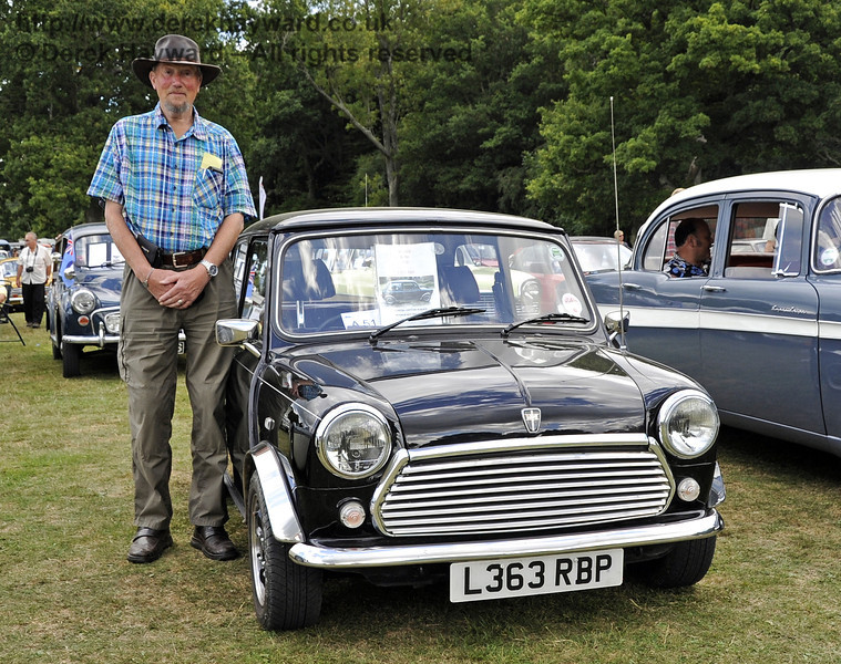 The Southdown Cup for Best in Show was awarded to Steven Green for his Mini Rio, L363RBP.  Vintage Transport Weekend, Horsted Keynes, 11.08.2013  7874
