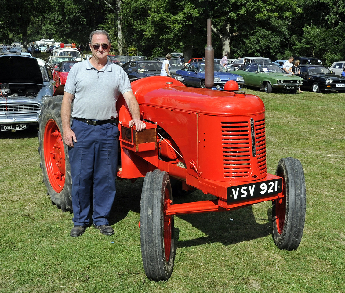 The prize for best agricultural vehicle was won by Ray Woolford for his David Brown Crop Master tractor, VSV921.  Vintage Transport Weekend, Horsted Keynes, 11.08.2013  7934