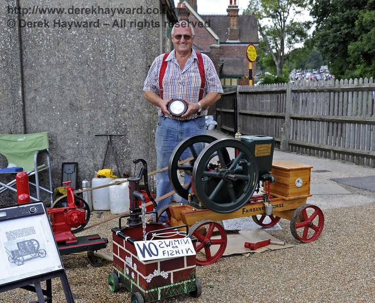 The Bluebell Cup for best stationary engine was awarded to Chris Page for his 1912 Fairbanks Morse Jack Junior.  Vintage Transport Weekend, Horsted Keynes, 11.08.2013  7903