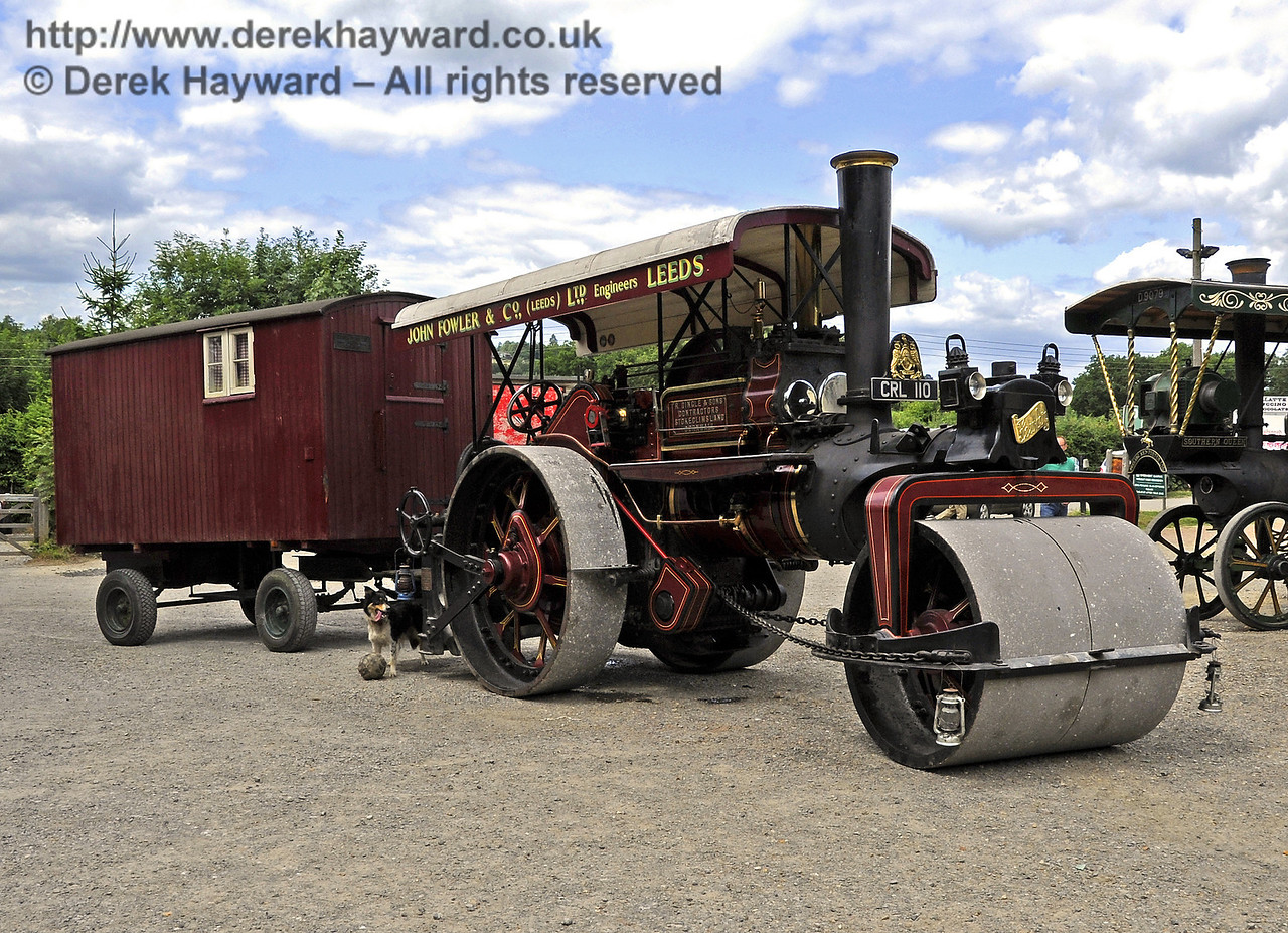 The London Cup for steam road engines was awarded to the John Fowler road roller, CRL110.  Vintage Transport Weekend, Horsted Keynes, 10.08.2013  7701