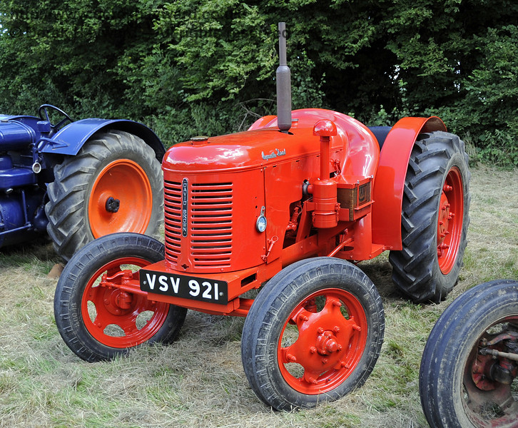 The prize for best agricultural vehicle was won by Ray Woolford for his David Brown Crop Master tractor, VSV921.  Vintage Transport Weekend, Horsted Keynes, 11.08.2013  7816