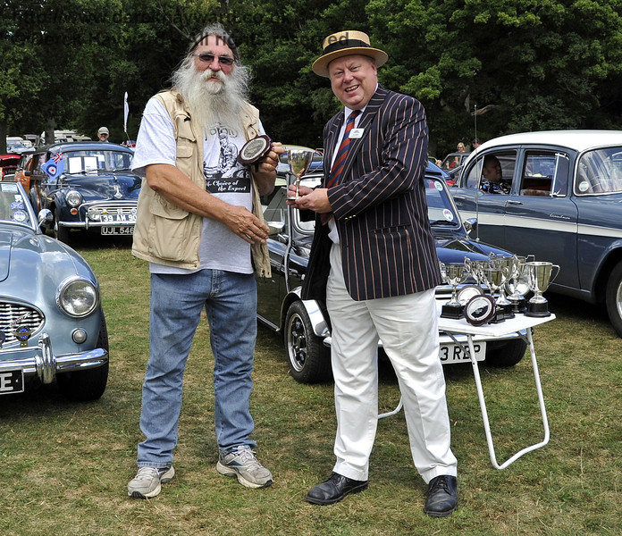 The Horsted Cup for best pre war motor cycle was awarded to Steve Elston for his 1919 AJS Model D, U4885.  Vintage Transport Weekend, Horsted Keynes, 11.08.2013  7861