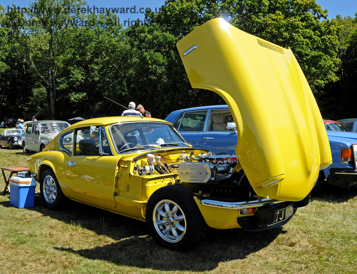 Highly commended in the Best Vintage Car category was Ian Gordon with his Triumph GT6 Mk 3, GTJ102K.  Vintage Transport Weekend, Horsted Keynes.  09.08.2015   13614