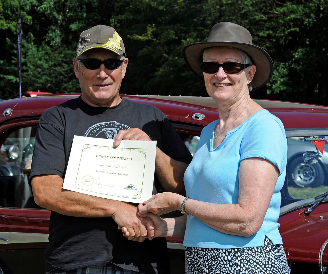 Highly commended in the Best Vintage Car category was Ian Gordon with his Triumph GT6 Mk 3, GTJ102K.  Vintage Transport Weekend, Horsted Keynes.  09.08.2015   11857
