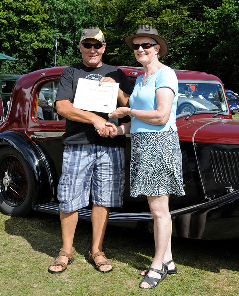 Highly commended in the Best Vintage Car category was Ian Gordon with his Triumph GT6 Mk 3, GTJ102K.  Vintage Transport Weekend, Horsted Keynes.  09.08.2015   13644