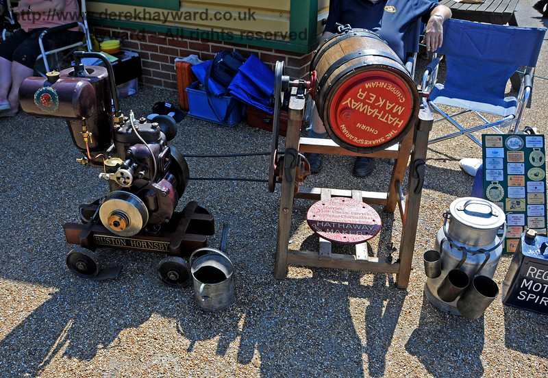 The award for best Stationary Engine went to Alan Cullen for his Ruston Hornsby, with Butter Churn.  Vintage Transport Weekend, Horsted Keynes.  08.08.2015   13514