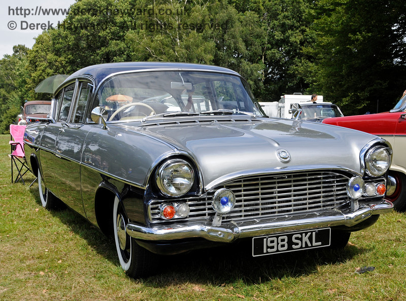 Highly commended in the Best Vintage Car category was Vauxhall Cresta, 198SKL, owned by Karen Bush.  Vintage Transport Weekend, Horsted Keynes.  09.08.2015   13641