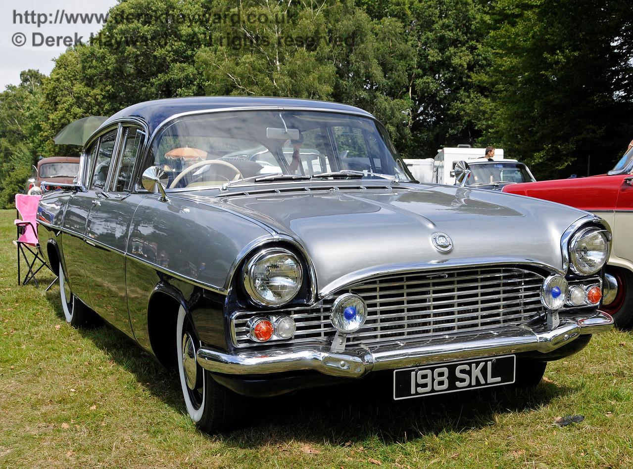 Highly commended in the Best Vintage Car category was Vauxhall Cresta, 198SKL, owned by Karen Bush.  Vintage Transport Weekend, Horsted Keynes.  09.08.2015   13641