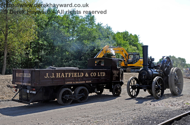 In line with the railway's policy of using steam power wherever possible, additional equipment has arrived for OP4.   Vintage Transport Weekend, Horsted Keynes.  08.08.2015   13485