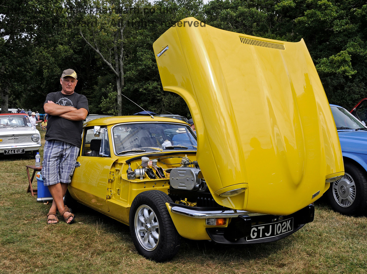 Highly commended in the Best Vintage Car category was Ian Gordon with his Triumph GT6 Mk 3, GTJ102K.  Vintage Transport Weekend, Horsted Keynes.  09.08.2015   13639