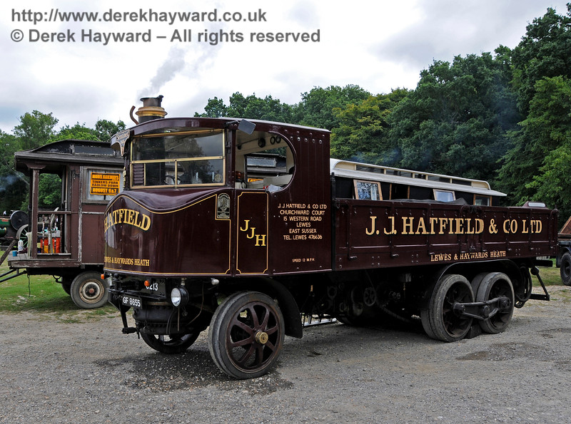 Best Steam Powered Vehicle was a Sentinel DG6, GF8655, owned by Jim Hatfield.  Vintage Transport Weekend, Horsted Keynes, 13.08.2016  15985