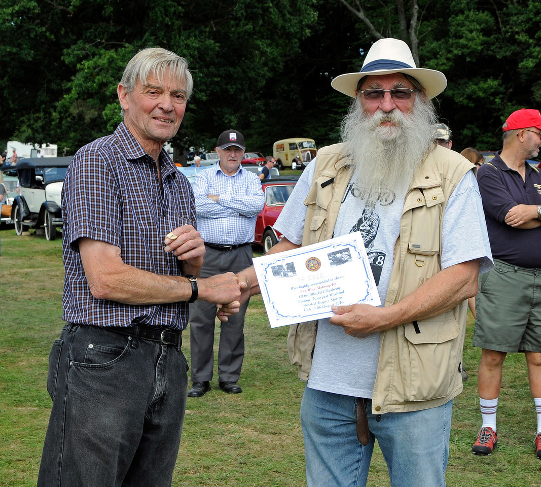 Highly Commended in the Pre-War Motor Cycle category was an OEC, PP5220, owned by Steven Elston.  Vintage Transport Weekend, Horsted Keynes, 14.08.2016  16210