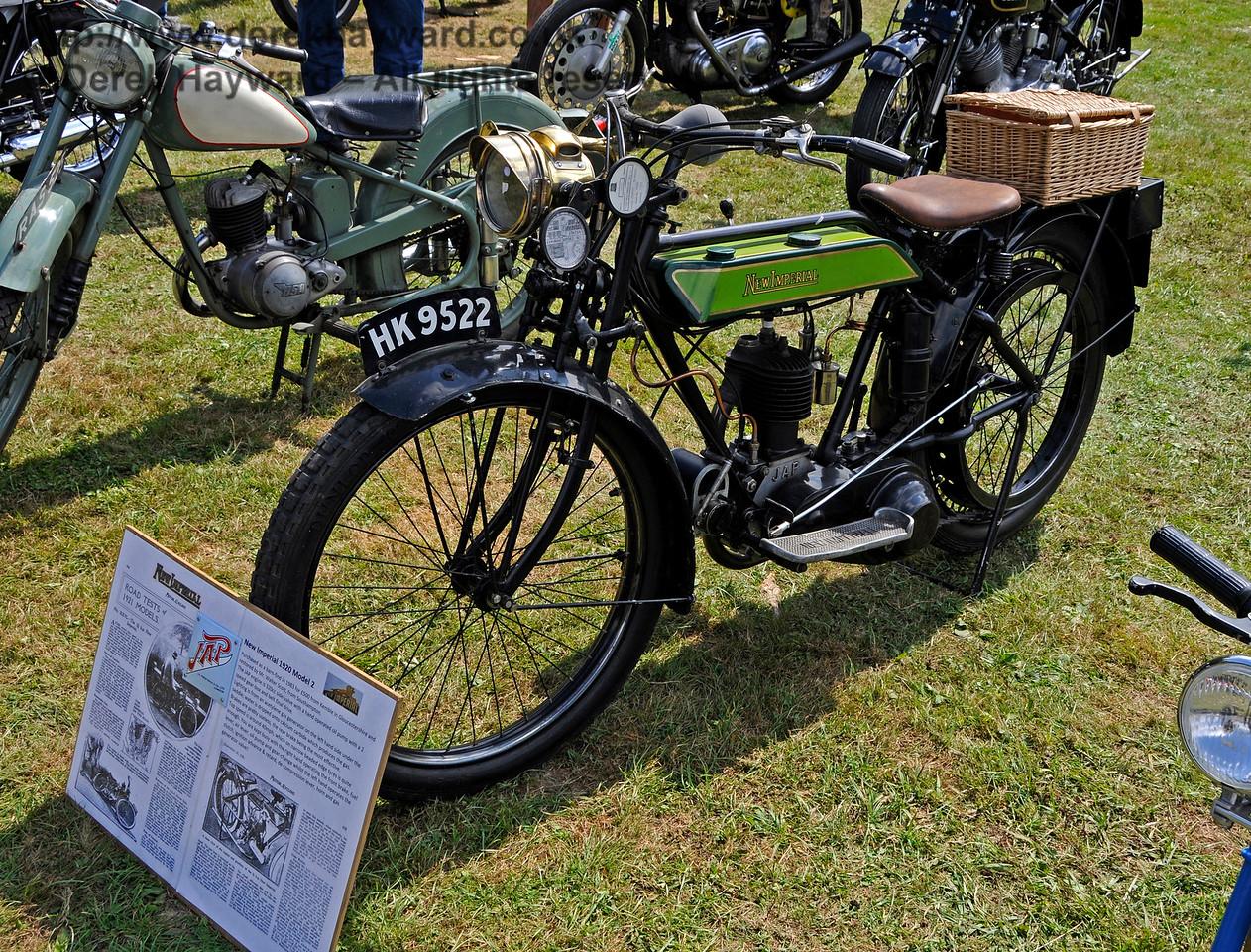 Best Pre-War Motor Cycle was a New Imperial, HK9522, owned by Peter Scott.  Vintage Transport Weekend, Horsted Keynes, 14.08.2016  16177