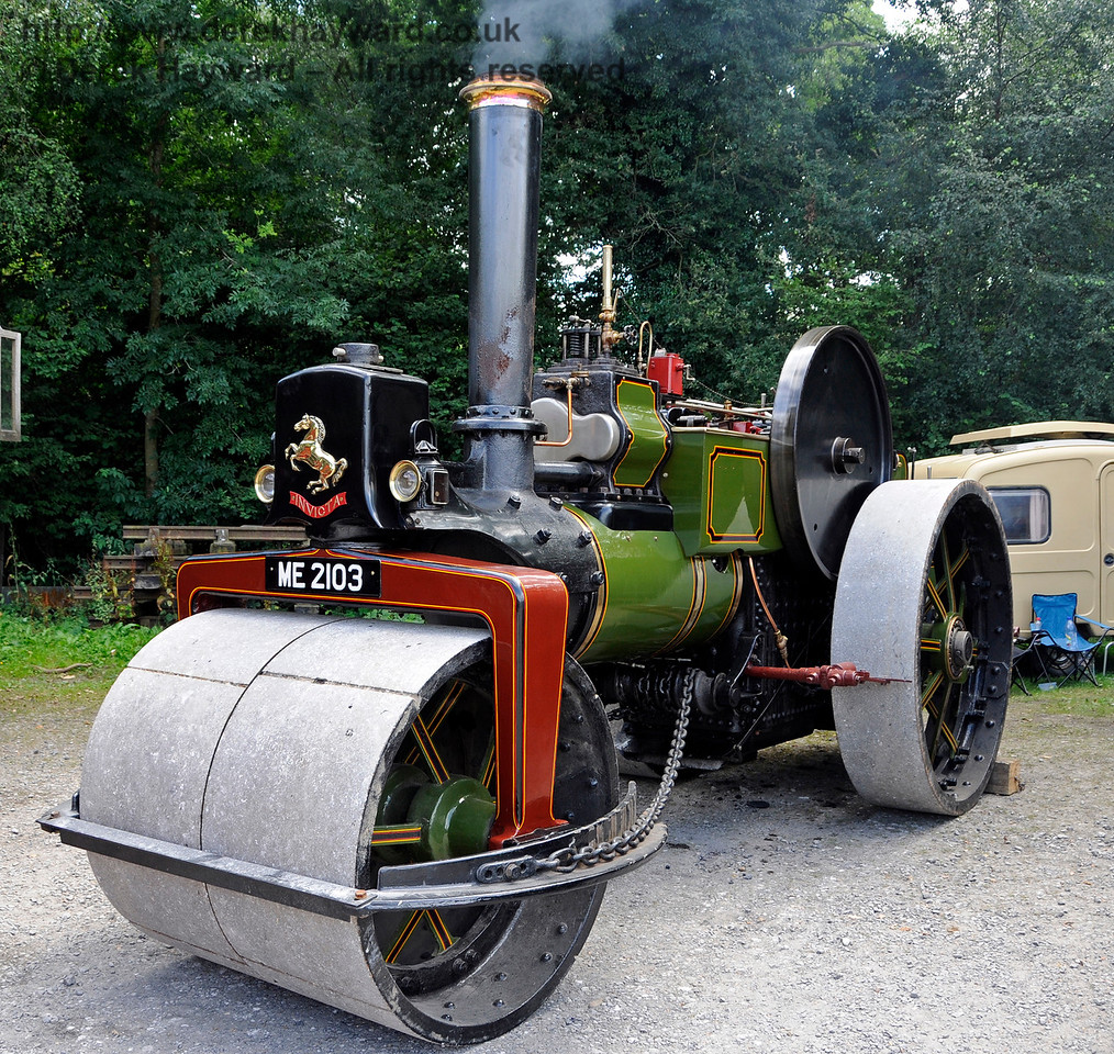 Highly Commended in the Steam Powered Vehicle category was an Aveling & Porter Road Roller, ME2103, owned by Matt and Lucy Webber.  Vintage Transport Weekend, Horsted Keynes, 14.08.2016  16188
