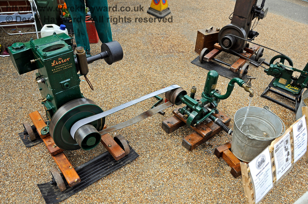 Highly Commended in the Stationary Engine category was Bryan Sharp for his Lister Water Pump.  Vintage Transport Weekend, Horsted Keynes, 14.08.2016  15978
