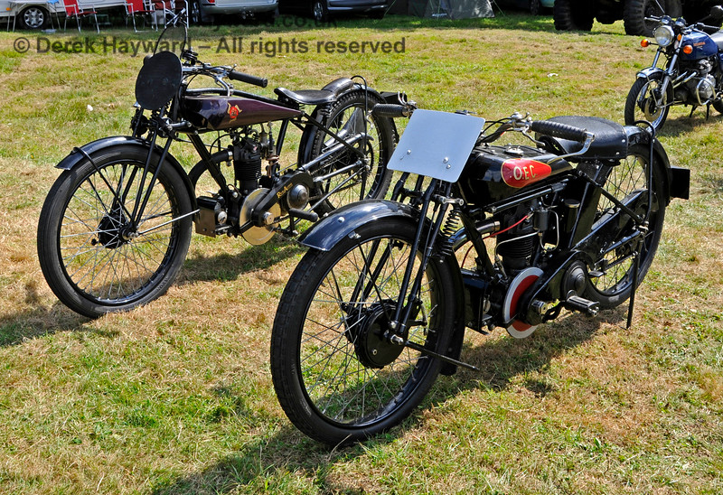 Highly Commended in the Pre-War Motor Cycle category was an OEC, PP5220, owned by Steven Elston.  Vintage Transport Weekend, Horsted Keynes, 14.08.2016  16175