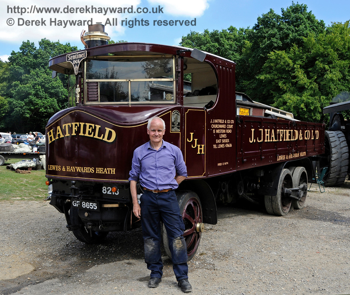 Best Steam Powered Vehicle was a Sentinel DG6, GF8655, owned by Jim Hatfield.  Vintage Transport Weekend, Horsted Keynes, 14.08.2016  16186